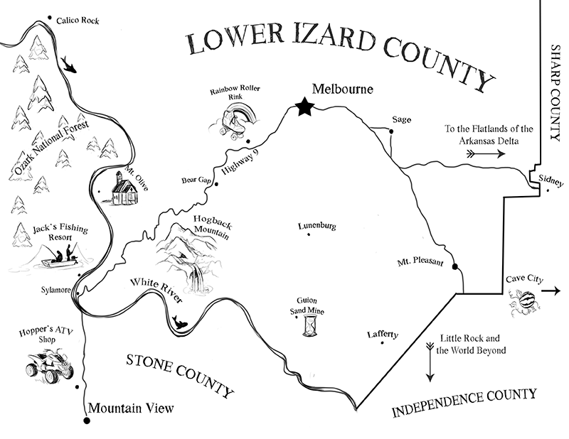 Ozarks Map drawing image